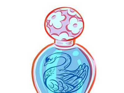 Hidden Anatomy: Perfume Swan object marcjacobs art characters illustration