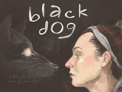 Black Dog Album Art digitalart fanart arlo parks wolf animal record label music art artist illustration