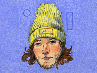 The Dude portrait illustration beanie winter portrait lineart graphic artist art digitalart characters illustration