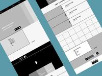 Wireframes for responsive website: tablet