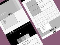 Wireframes for responsive website: standard