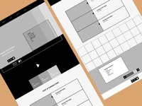 Wireframes for responsive website: wide screen
