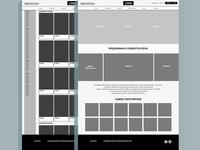 Online retail website wireframes