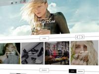 Responsive retail website UX/UI work in progress