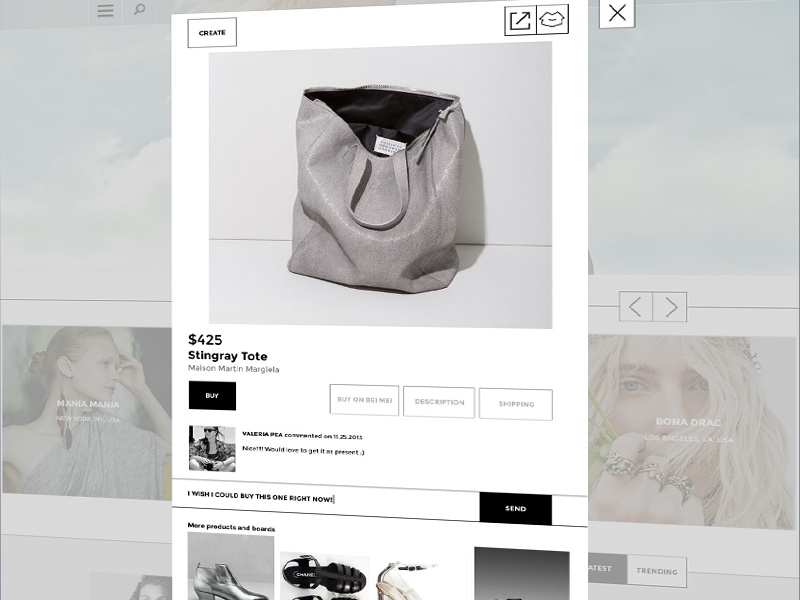 Item Page for Retail Website retail website responsive shop clean ux ui ia gray minimalistic design functional