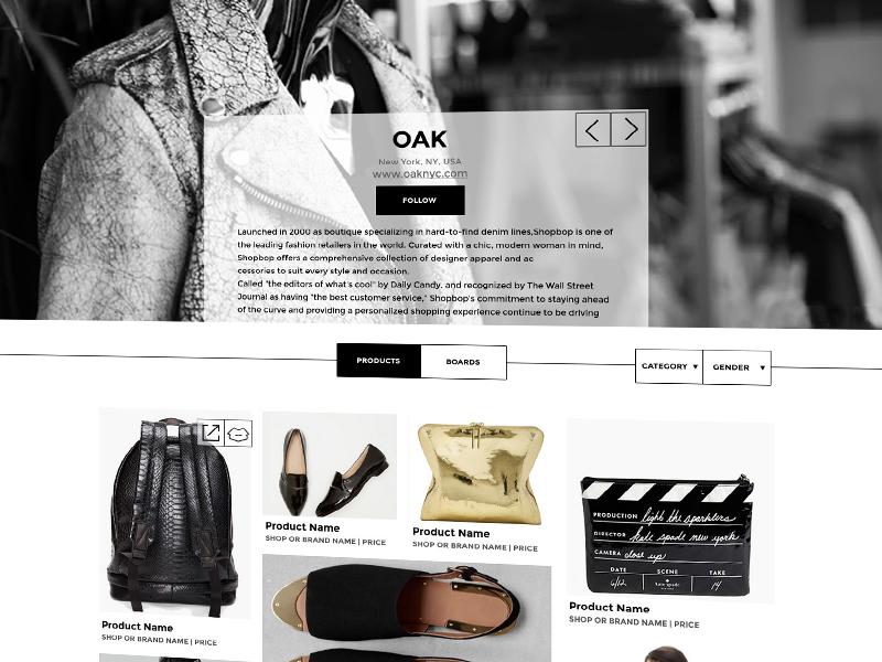 Shop Page for Retail Website retail website responsive shop clean ux ui ia gray minimalistic design functional