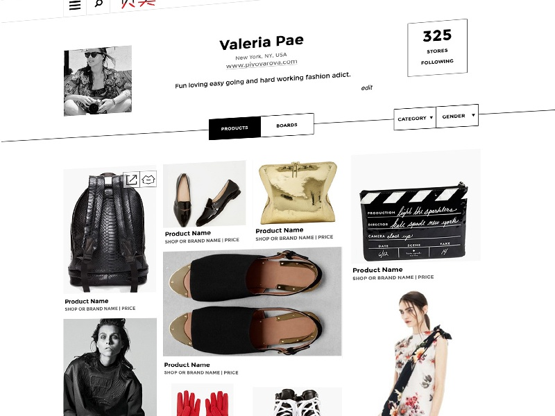 User Page for Retail Website retail website responsive shop clean ux ui ia gray minimalistic design functional