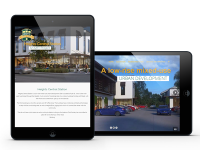HCS Tablet Design responsive design web design wordpress ui web design