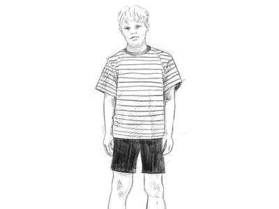 Addams Family - Pugsley portrait costume character penwork line art illustrator illustration pugsley addams family addams