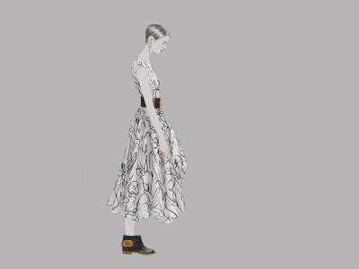 Alexander McQueen 01 costume character portrait line art illustrator illustration fashion illustration fashion alexander mcqueen