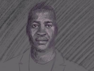 George Floyd rip pencil portrait black lives matter george floyd