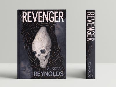 Revenger science labyrinth space novel anunnaki alien skull book cover art book cover science fiction sci fi portrait illustrator illustration