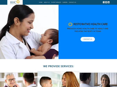 WebSite for RHC - HOME HEALTH CARE illustration slider sass mobile design javascript html5 responsive design animation design accessibility