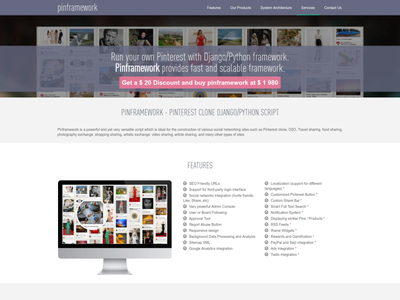 Pinframework - Pinterest clone development website design pinterest pinterest clone