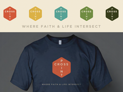 CROSS POINT t-shirts logo branding church