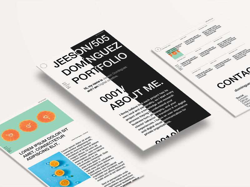 Jeeson Domínguez Portfolio logo web branding design ui  ux design figma web design ux ui
