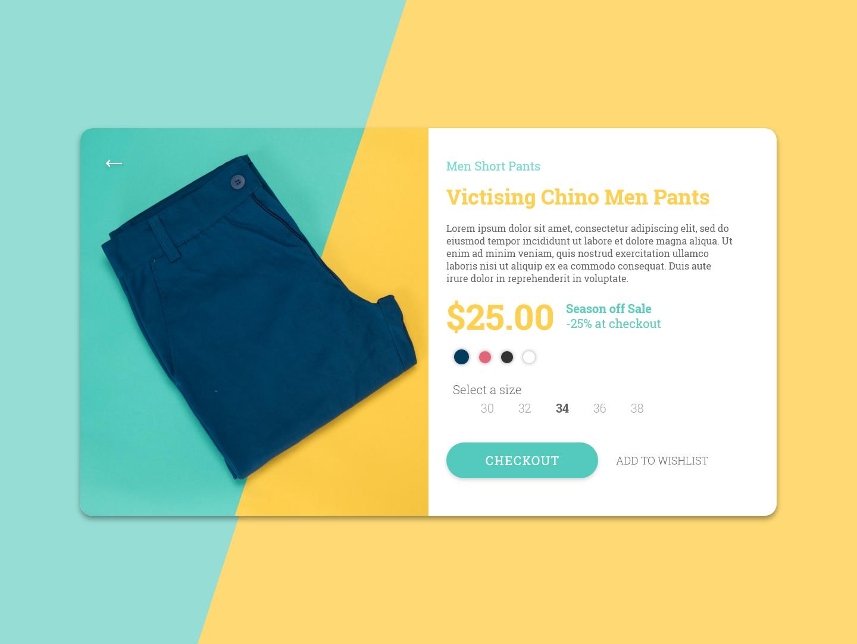 E-Commerce Shop (Single Item) ui  ux design adobe xd web design ux ui