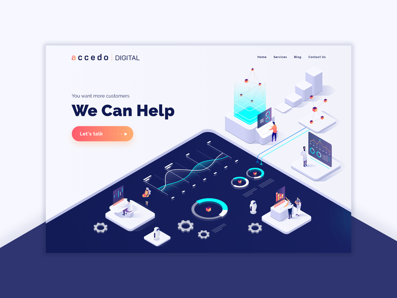 Homepage Redesign - Accedo Digital illustration design ui  ux design web design adobe xd ux ui