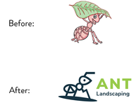 Proposed Logo Redesign - Ant Landscaping