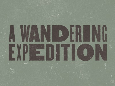 AWE awe typography green black a wandering expedition