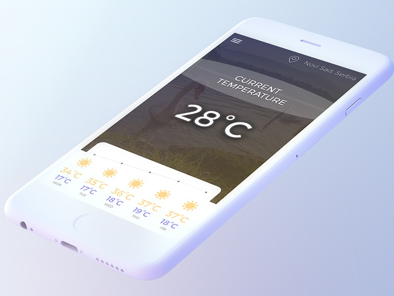 Weather APP - App Design mobile new modern popular weather app weatherapp weather desgin app