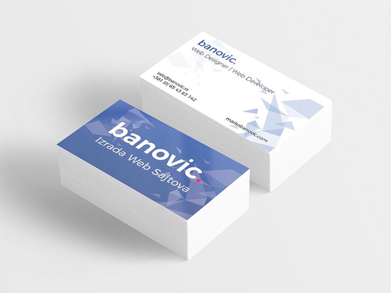 Marko Banovic - Busines card / ID card busines card business card modern personal card id card id personal popular web designer developer