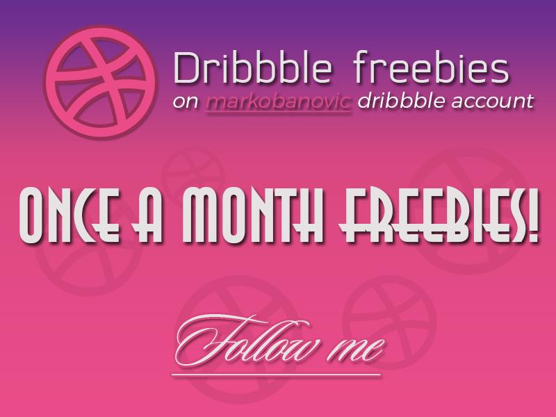 Once a month freebies photoshop psd free invite dribbble modern popular follow freebies