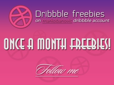 Once a month freebies