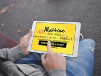 Fast Food Mattina - Tablet advertisement