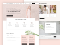 Wedding Dress Selling Platform dress wedding website web design logo icon ux ui