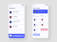 Pros and Cons App Concept iphone design illustration ui ux flat app