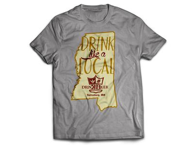 Drink Like A Local - Keg & Barrel Tshirt