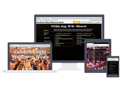 Southern Miss Welcome Week Microsite