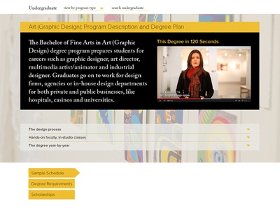 Southern Miss redesign - degree page