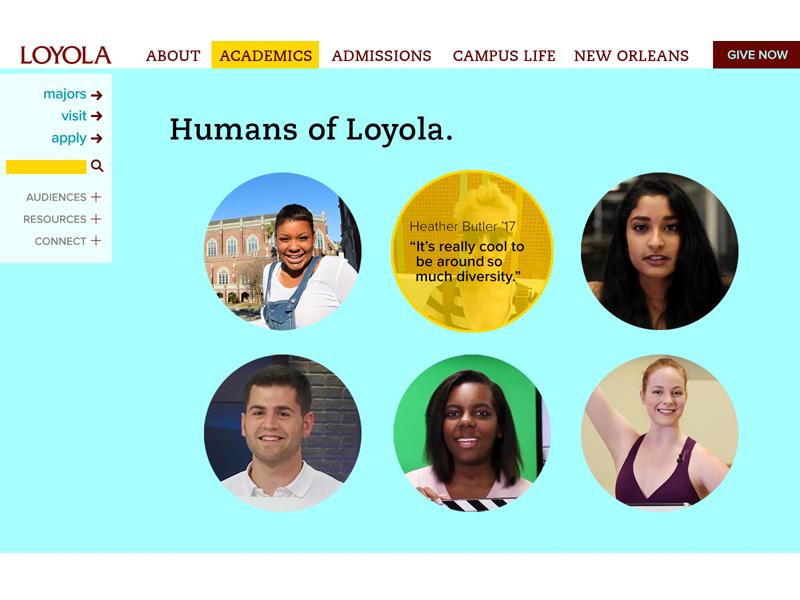 2015 loyolahome screen4 5 humansofloyola desktop e