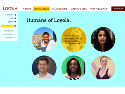 Loyola Homepage Redesign - extra sections