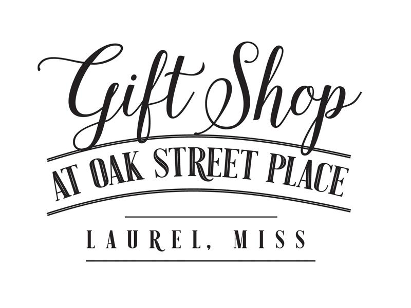 Gift Shop at Oak Street Place mississippi laurel downtown gift shop lauren smith logo