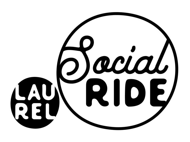 Laurel Social Ride Logo bike laurel mississippi lauren smith branding identity logo