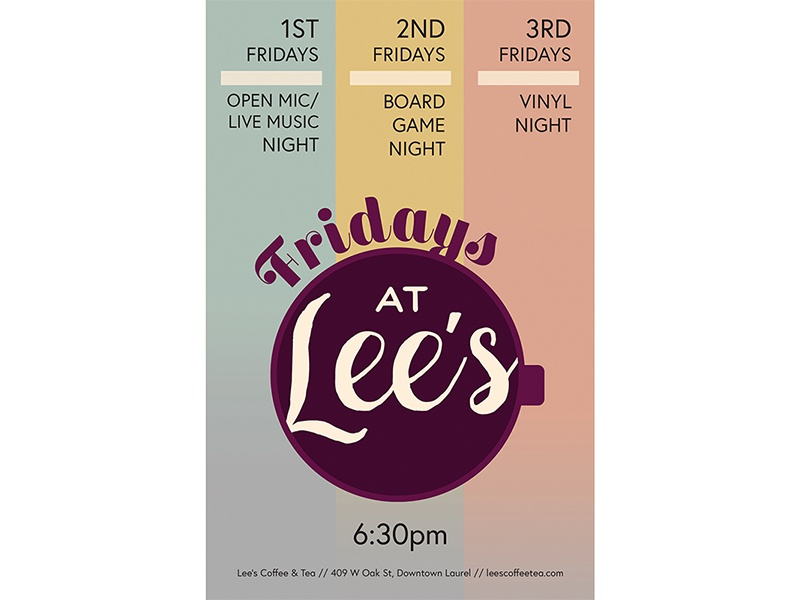 Fridays at Lee's mississippi event poster lauren smith