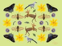 Mississippi Wildlife Commemorative Art Print