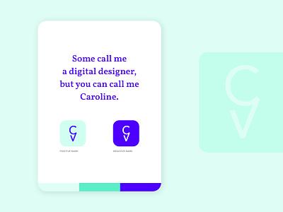 Personal Identity - Caroline Verellen color chart identity design logo branding identity branding identity