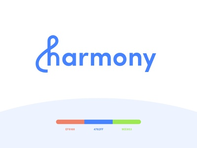 Logo - Harmony CMS design color chart identity branding logo