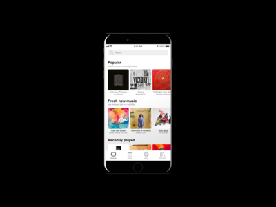 Spotify Inspired Light-Themed Music App