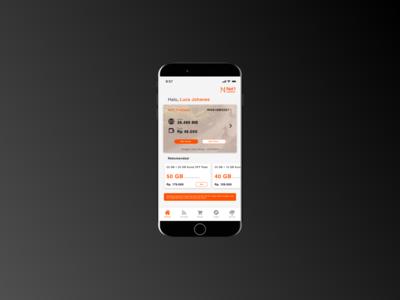 Telco Selfcare App - Dashboard