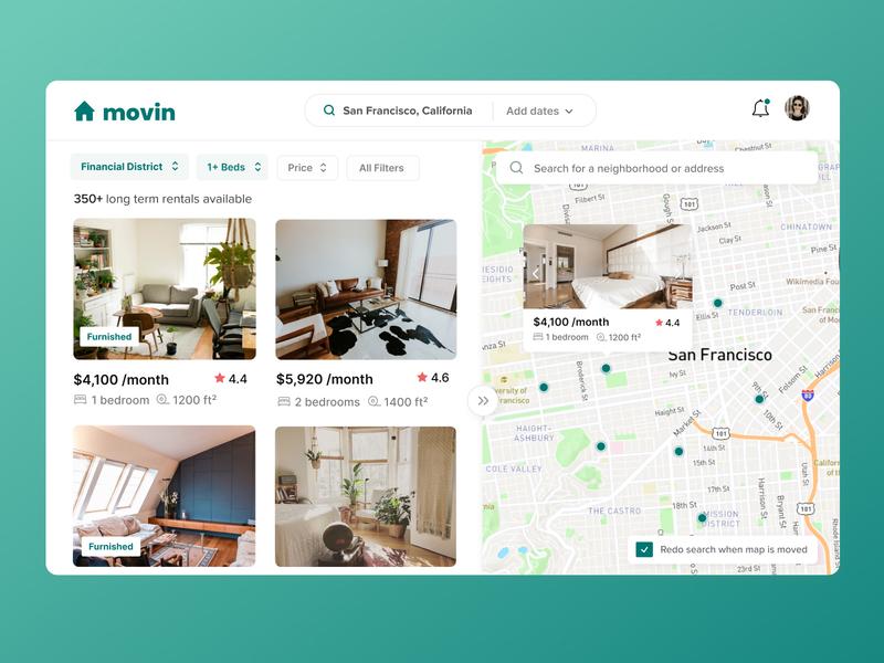 Long term Rental Application uidesign ui app design real estate application rental web app apartment rental application ui designs ui design