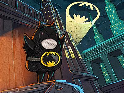 Batmanka batmanka illustration photoshop batman peter nagy dirclumsy city dark