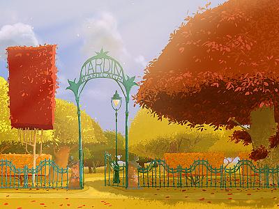 Jardin jardin garden park peter nagy dirclumsy photoshop illustration