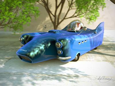 Agent car dirclumsy peternagy render modeling 3d trees vray cinema4d car agent