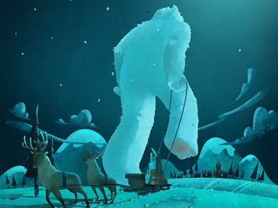 The stolen presents deer reindeer monster yeti snow dirclumsy claus santa christmas winter