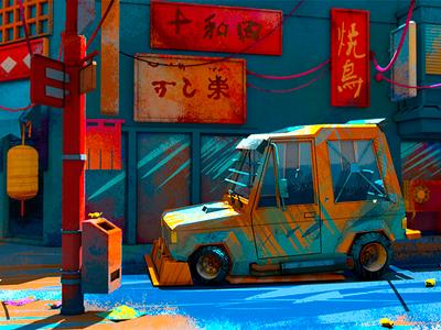 Shogun/mad 3d car cgi arnoldrender cinema 4d c4dtoa